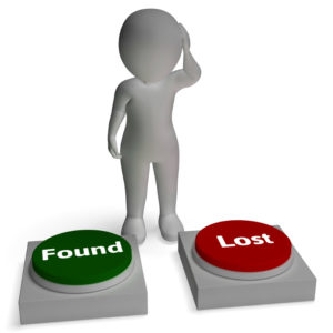 Lost Found Buttons Shows Losing And Finding